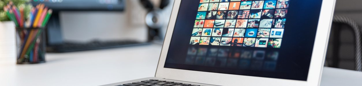 Streaming services laptop
