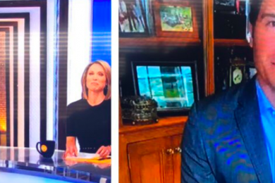 ABC reporter Will Reeve with no pants on Good Morning America
