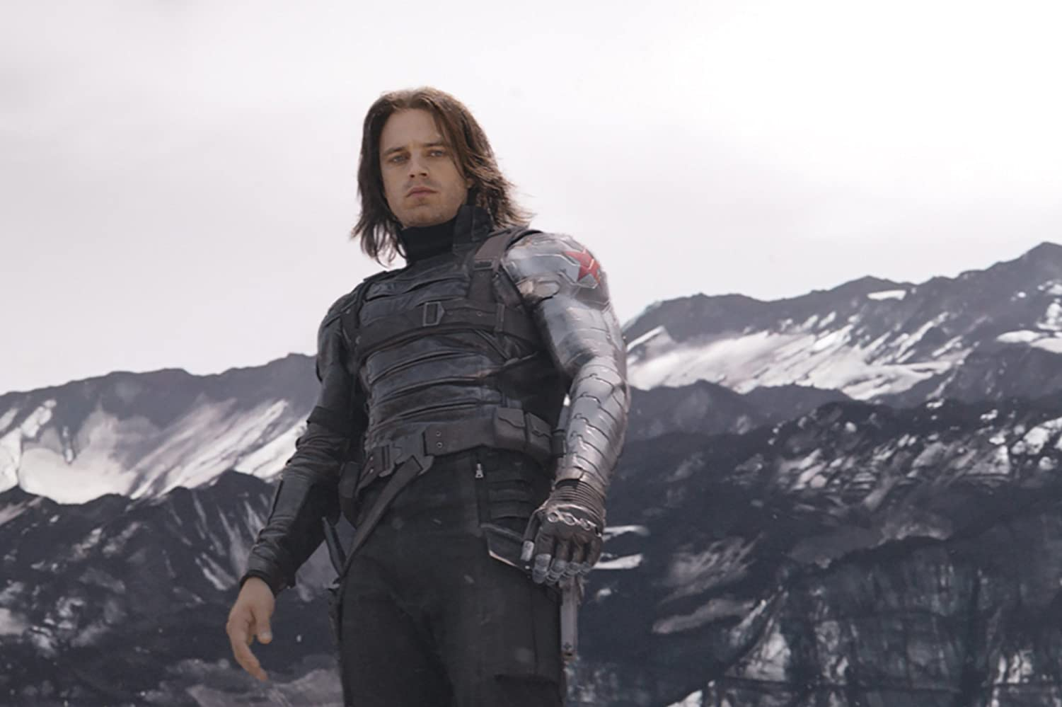 Sebastian Stan as the Winter Soldier in Captain America: Civil War