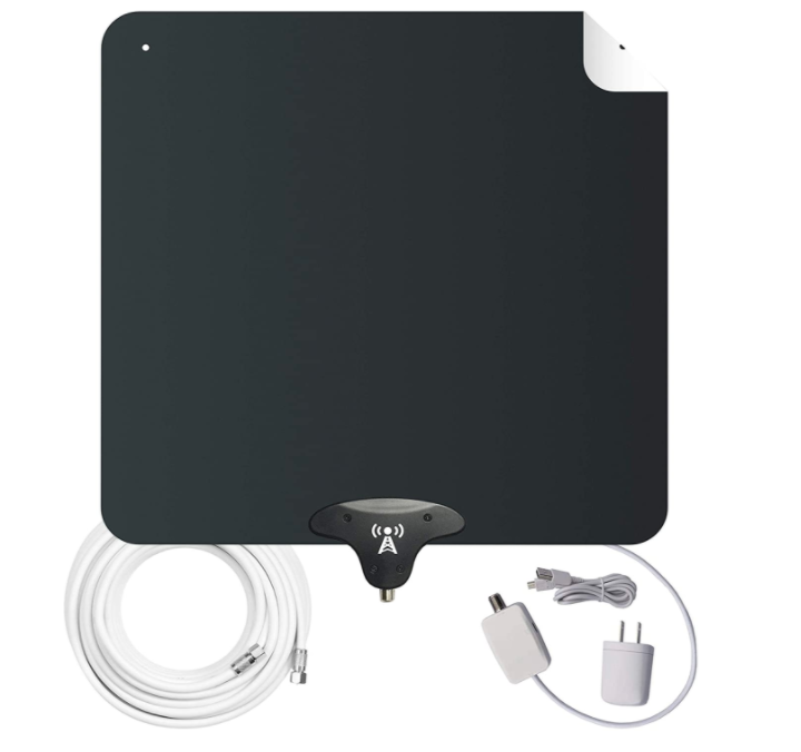 NoCable 50-Mile Amplified HDTV Indoor Flat Antenna