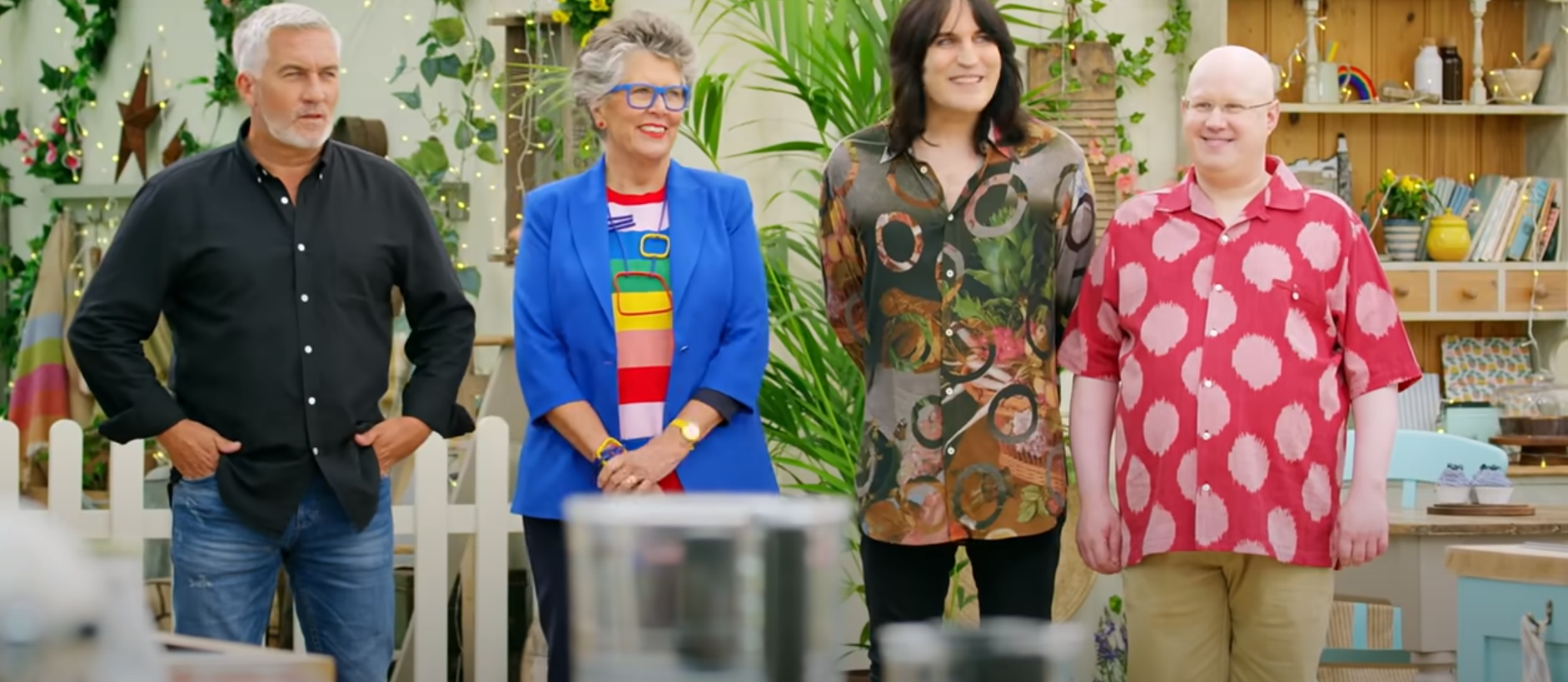The judges and hosts of The Great British Baking Show